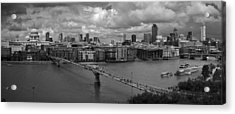 St Paul's And The City Panorama Bw Acrylic Print