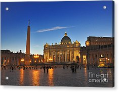 St Peters Basilica Acrylic Print by Ed Rooney