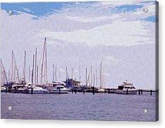 St. Petersburg Marina Acrylic Print by Bill Cannon