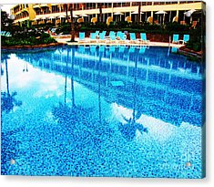 Acrylic Print featuring the photograph St. Regis Pool by Michele Penner