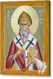St Spyridon Acrylic Print by Julia Bridget Hayes