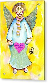 St. Valentine's Angel Acrylic Print by Ion vincent DAnu