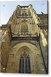 St Vitus Cathedral Prague - The Realms Of 'non-being' Acrylic Print by Christine Till