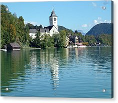 Acrylic Print featuring the photograph St Wolfgang Austria by Joseph Hendrix