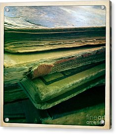Stack Of Old Books Acrylic Print by Ruby Hummersmith