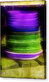 Stack Of Saucers Acrylic Print by Judi Bagwell