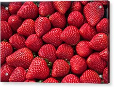 Stack Of Strawberries Acrylic Print by Dina Calvarese
