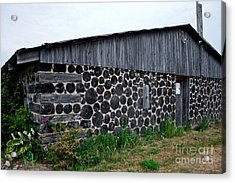 Acrylic Print featuring the photograph Stacked Block Barn by Barbara McMahon