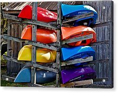 Stacked Emotions Acrylic Print by DigiArt Diaries by Vicky B Fuller