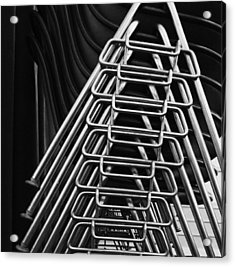 Stacks Of Chairs Acrylic Print by Anna Villarreal Garbis
