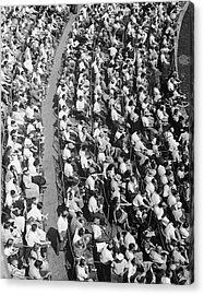 Stadium Crowd Acrylic Print by George Marks