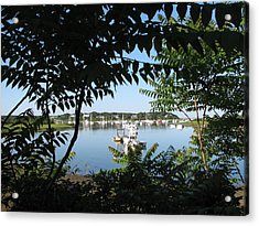 Stage Island Acrylic Print by Heather Gwyn Twomey