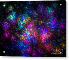 Stain Glass Fractal Abstract Acrylic Print
