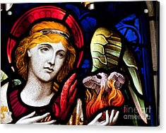 Stained Glass Angel Acrylic Print