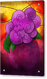 Stained Glass Florals Acrylic Print by Melisa Meyers