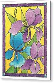 Stained Glass Iris Acrylic Print