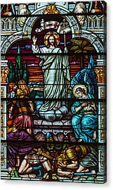 Stained Glass Jesus Acrylic Print by Anthony Citro