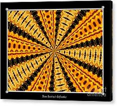 Stained Glass Kaleidoscope 37 Acrylic Print by Rose Santuci-Sofranko