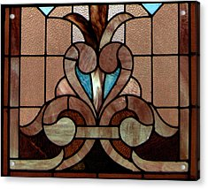 Stained Glass Lc 06 Acrylic Print by Thomas Woolworth