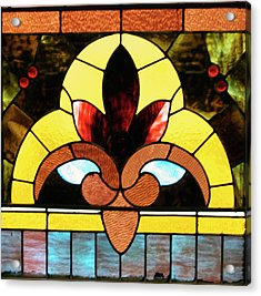 Stained Glass Lc 07 Acrylic Print by Thomas Woolworth