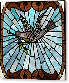 Stained Glass Lc 14 Acrylic Print by Thomas Woolworth