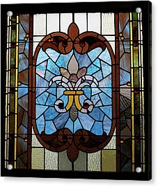 Stained Glass Lc 19 Acrylic Print by Thomas Woolworth