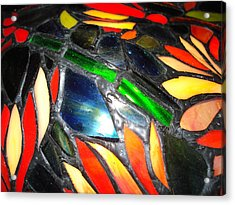 Stained Glass Three Acrylic Print