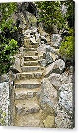 Staircase To Eagle Falls Lake Tahoe Acrylic Print by LeeAnn McLaneGoetz McLaneGoetzStudioLLCcom