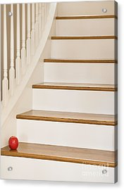 Stairs And Apple Acrylic Print by Andersen Ross