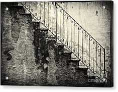 Stairs On A Rainy Day Acrylic Print