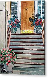 Stairs Sketchbook Project Down My Street Acrylic Print by Irina Sztukowski