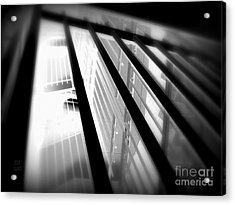Stairway Black And White Acrylic Print