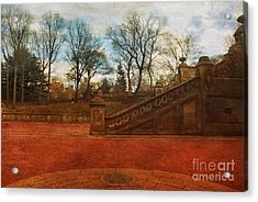 Stairway In Central Park Acrylic Print