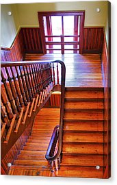 Stairway In Old Naval Hospital Acrylic Print by Steven Ainsworth