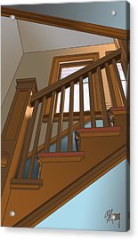 Stairway To 2nd Floor Acrylic Print