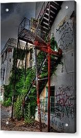 Stairway To Insanity Acrylic Print by Heather  Boyd