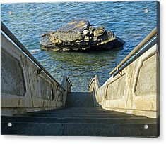 Stairway To Magic Island Acrylic Print by David Rearwin