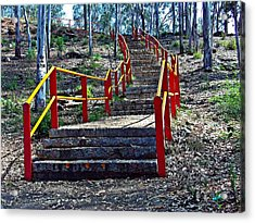 Stairway To Nowhere Acrylic Print by Peter P G