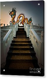 Stairway To The Dragon. Acrylic Print by Phaitoon Chooti