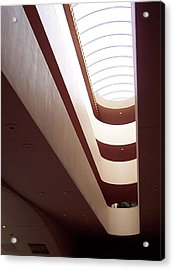Stairwell At The Marin Civic Acrylic Print by Susan Alvaro