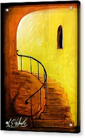 Stairwell Acrylic Print by Lee Halbrook