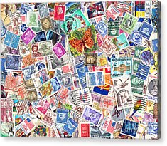 Stamp Collection . 9 To 12 Proportion Acrylic Print