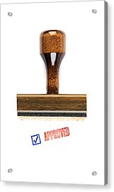 Stamp Of Approval Acrylic Print by Robert Kirk