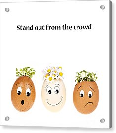 Stand Out From The Crowd Acrylic Print by Jane Rix