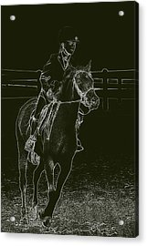 Stand Out Glowing Duo Acrylic Print by Karol Livote