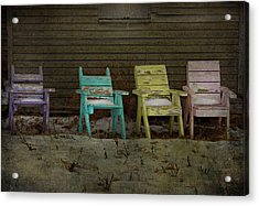 Standing For All Colours  Acrylic Print by Empty Wall