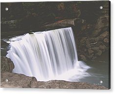 Acrylic Print featuring the photograph Standing In Motion  Cumberland Falls 01 by George Bostian