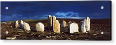 Standing Stones, Blacksod Point, Co Acrylic Print by The Irish Image Collection