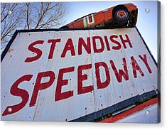 Standish Speedway Acrylic Print by Gordon Dean II