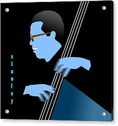 Stanley Clarke Blue Acrylic Print by Victor Bailey